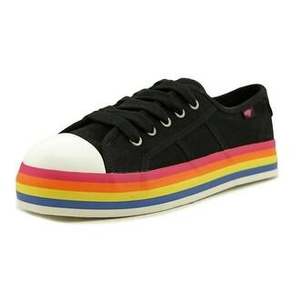 Rocket Dog Magic Women Black/Rainbow Sneakers Shoes