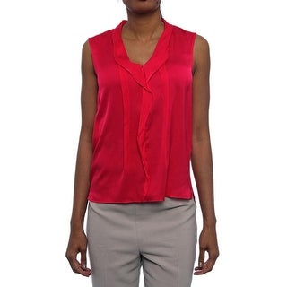 Elie Tahari Sawyer Sleeveless Blouse Women Regular Blouse