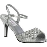 Dyeables Women's Lynn Quarter Strap Sandal Silver Shimmer