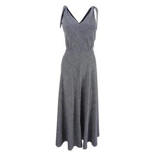 Betsey Johnson Women's Tie-Strap Fit & Flare Dress - Black/Ivory