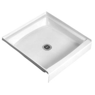 """American Standard 36WL  Fiat 36"""" x 36"""" Shower Base with Single Threshold and Center Drain - White"""
