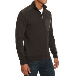 Kenneth Cole NEW Solid Black Mens Size 2XL 1/2 Zip Knit Nylon Jacket