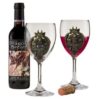 Design Toscano The Order Of The Celtic Dragon Glass Goblets: Set of 2