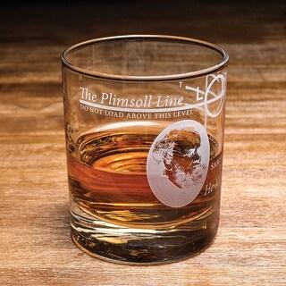 Nauticalia Plimsoll Line Lowball Rocks Glass - 7 oz. Nautical Sailing Bar Glass