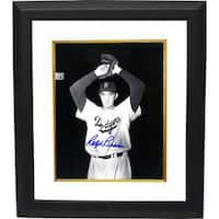Ralph Branca signed Brooklyn Dodgers 8x10 BW Photo Custom Framed wind up