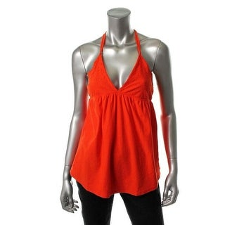 Billabong Womens Halter Lace Overlay Tank Top - L