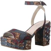 Kenneth Cole New York Pheonix Stud Leather Platform Sandal - Women's