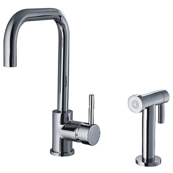 Whitehaus Wh2070826 Jem Kitchen Faucet With Swiveling Spout Side Spray Include Polished Chrome N A