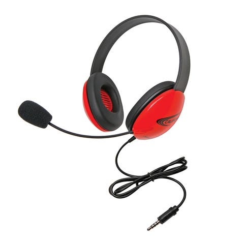 Listening First Headsets with Single 3.5mm plugs, Red