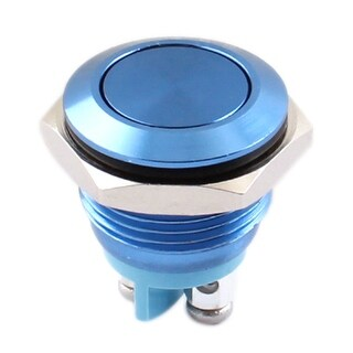 16mm Panel Mount SPST Momentary Metal Push Button Switch AC 250V 3A