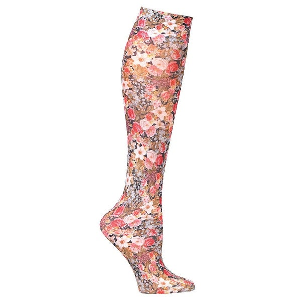 a7f9349fd4 Shop Celeste Stein Women s Mild Compression Knee High Stockings - Tiny  Flowers - Regular - Free Shipping On Orders Over  45 - Overstock - 15928527