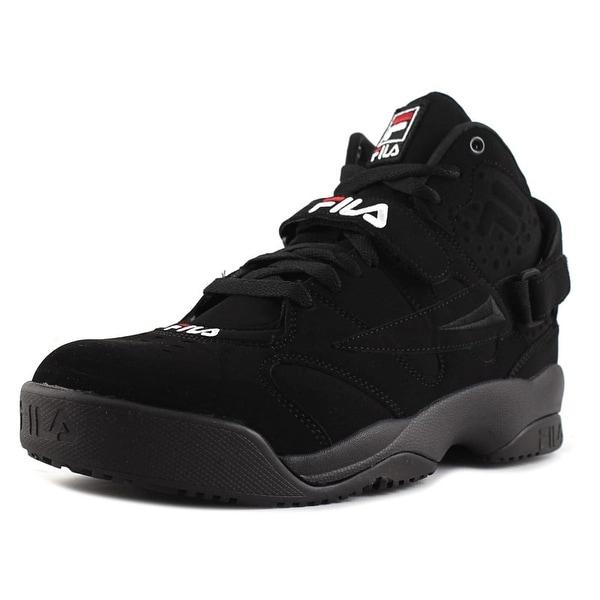 Fila Spoiler Men Round Toe Canvas Black Sneakers