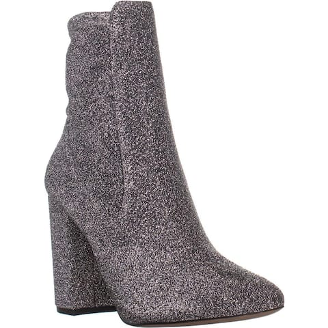Aldo Aurella Block-Heel Ankle Booties, Silver - 8.5 US / 39 EU