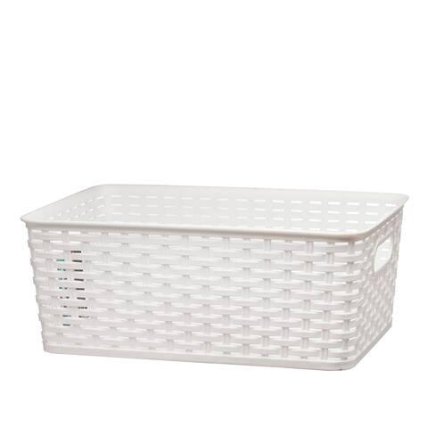 """Raton Basket Medium 15 1/8 x 16 3/4 x 5 /78"""" - White - 5 1/8 x 16 3/4 x 5 /78"""""""