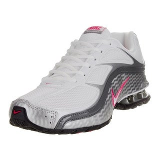 Nike Women's Reax Run 5 White/White/Mtllc Slver/Drk Gry Running Shoe, US Women - white/white/mtllc slver/drk gry