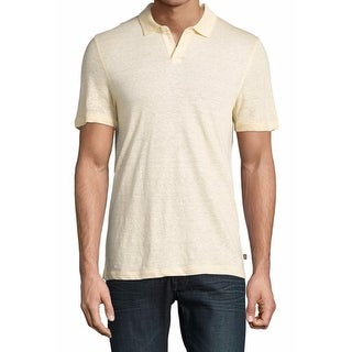 Michael Kors NEW Yellow Mens Small S Stripe Texture Polo Rugby Shirt