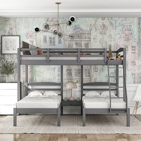 Merax Full Over Twin & Twin Triple Bunk Bed