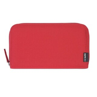 Pacsafe RFIDsafe LX250 - Chili RFID Blocking Zippered Travel Wallet