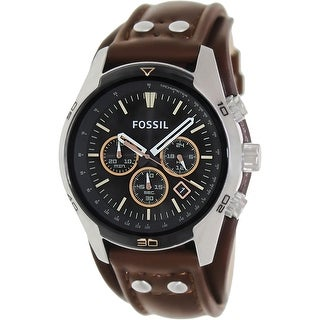 Fossil men 39 s ch2891 coachman brown leather watch free shipping today 16409719 for Watches direct