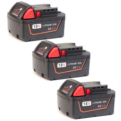 Replacement for Milwaukee 2767-20 Power Tool Battery - 48-11-1850 18v 5000mah (3 Pack)