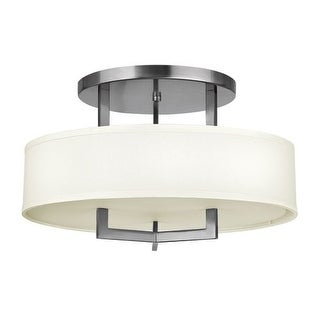 """Hinkley Lighting 3201 3 Light 20"""" Width Semi-Flush Ceiling Fixture from the Hampton Collection"""