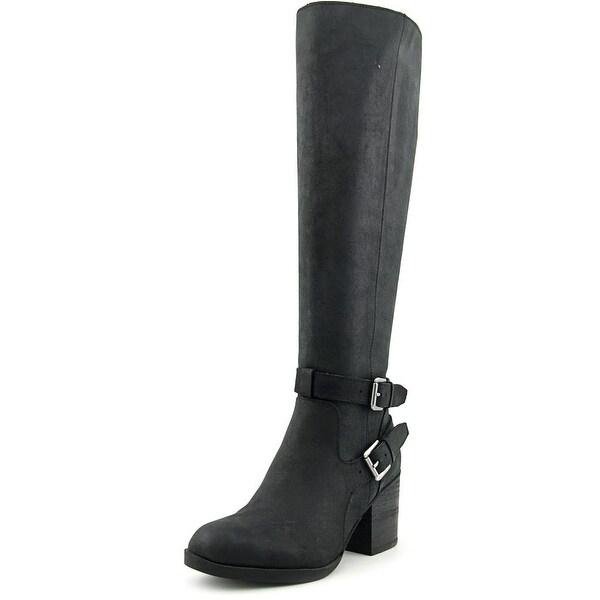 Steven Steve Madden Olyvvya Women  Round Toe Leather Black Knee High Boot
