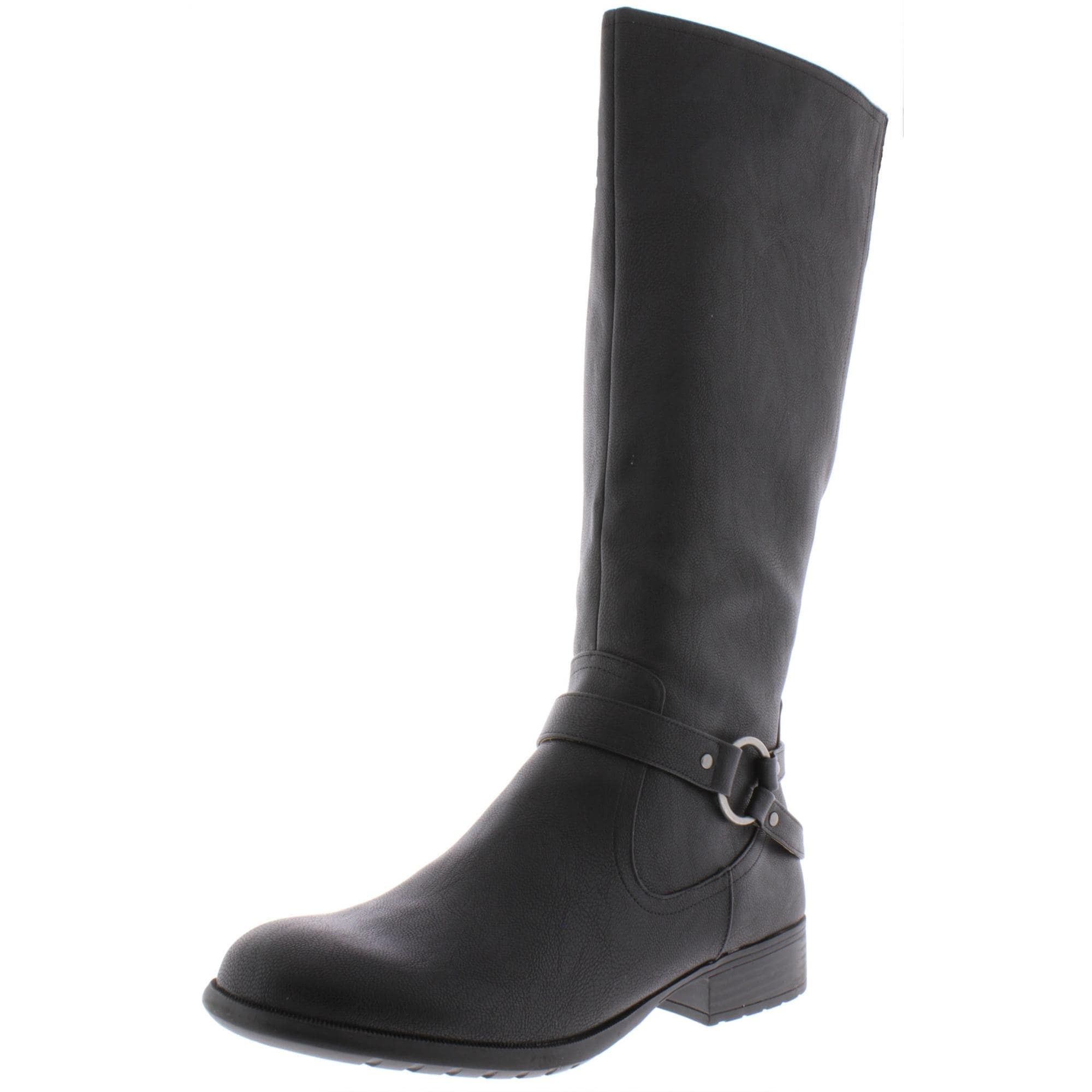 Tall Black Leather Boots For Women