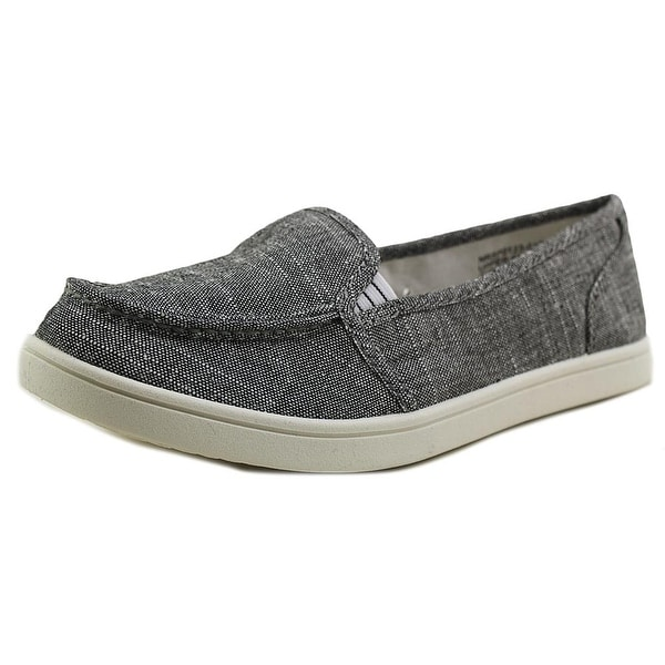 Not Rated Machkerel Women Round Toe Canvas Gray Loafer