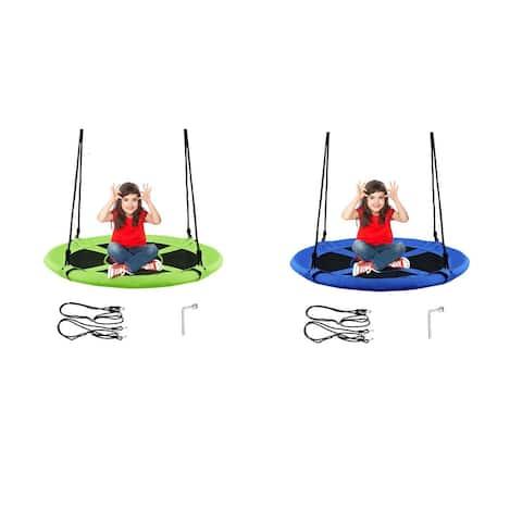 Goplus 40'' Flying Saucer Tree Swing Indoor Outdoor Play Set Kids