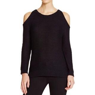 Aqua Womens Sweater Eyelet Open Shoulder