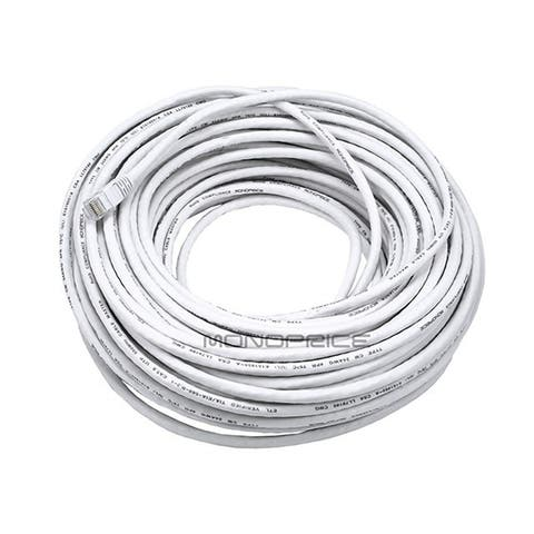 Cat5e Ethernet Patch Cable RJ45 Stranded 350Mhz UTP Copper Wire 24AWG 100' White