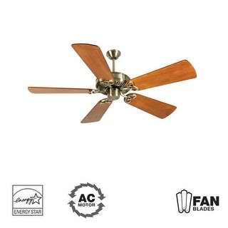 """Craftmade K10927 CXL 54"""" 5 Blade Energy Star Indoor Ceiling Fan - Blades Included - Antique Brass"""