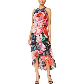 MSK Womens Maxi Dress Floral Print High-Low