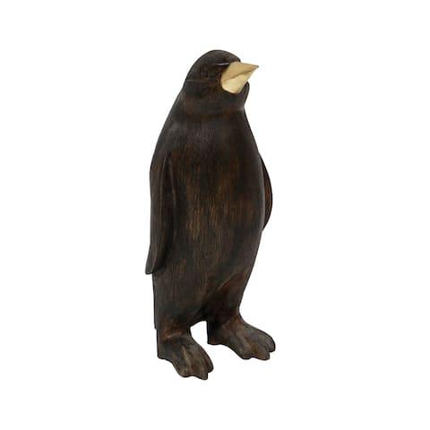 Dimond Home 7011-1529 Penguin Wood Statue