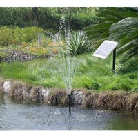 Sunnydaze Solar Pump and Panel Kit - DIY Solar Fountain or Pond - 56-Inch Lift