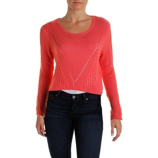 Hooked Up by IOT Womens Crop Long Sleeves Crop Sweater - XL