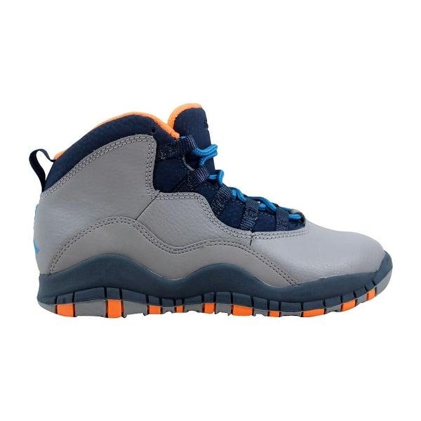 42649c3cfeba47 Shop Nike Air Jordan X 10 Retro PS Wolf Grey Dark Powder Blue-Slate ...