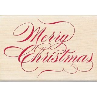 "Inkadinkado Mounted Rubber Stamp 2.75""X4""-Merry Christmas"