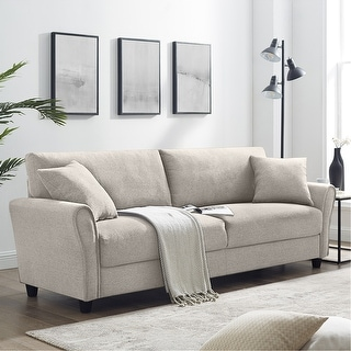 Rolled Arms Sofa with Solid Wood Frame for Living Room