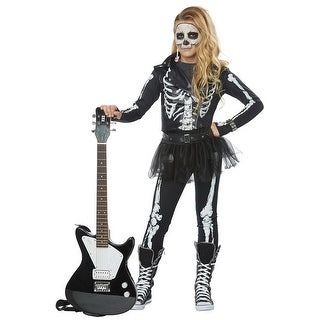 California Costumes Skeleton Rocker Child Costume - BLACK/WHITE