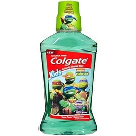 Colgate Kids Turtle Power Bubble Fruit Anticavity Fluoride Rinse, 16.9 oz