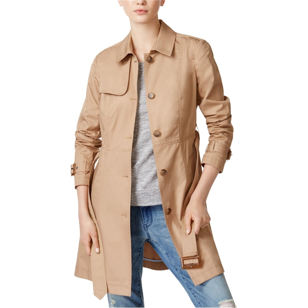 CTAU Coat Women Hooded Thick Tops Hooded Zipper Closure Outwear Pocket Trench Long Sleeve Jacket