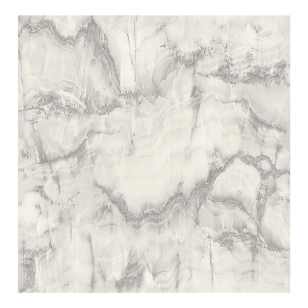 Aura Silver Marble Wallpaper - 20.5 x 396 x 0.025. Opens flyout.