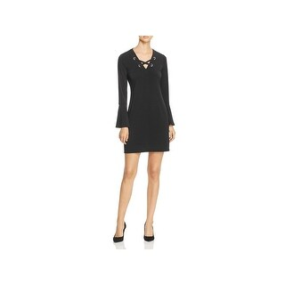 MICHAEL Michael Kors Womens Casual Dress Lace-Up Bell-Sleeve