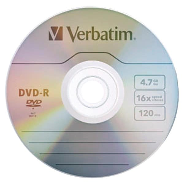 Verbatim 97957 4.7Gb 120-Minute 16X Dvd-Rs, 10 Pk