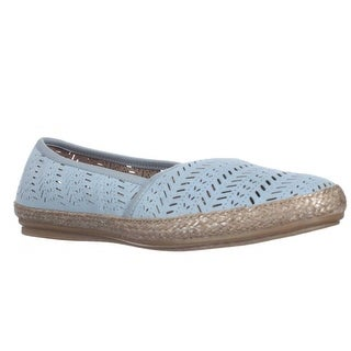 Easy Spirit Gannet Perforated Espadrille Flats - Medium Blue