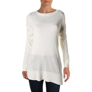 Love Scarlett Womens Sweater Ribbed Trim Boatneck