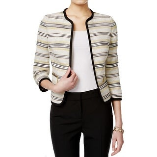 Kasper Womens Basic Jacket Striped Tweed Frame