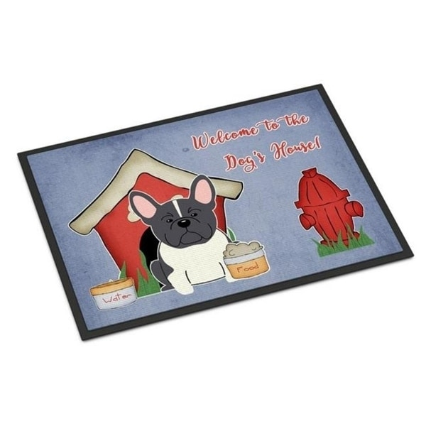 Carolines Treasures BB2766MAT Dog House Collection French Bulldog Black White Indoor or Outdoor Mat 18 x 0.25 x 27 in.