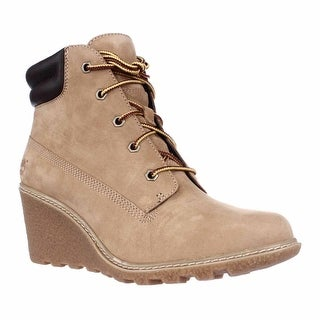 Timberland Earthkeepers Amston Wedge Ankle Boots - Wheat
